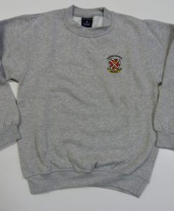 Grey Sweatshirt with badge vyners