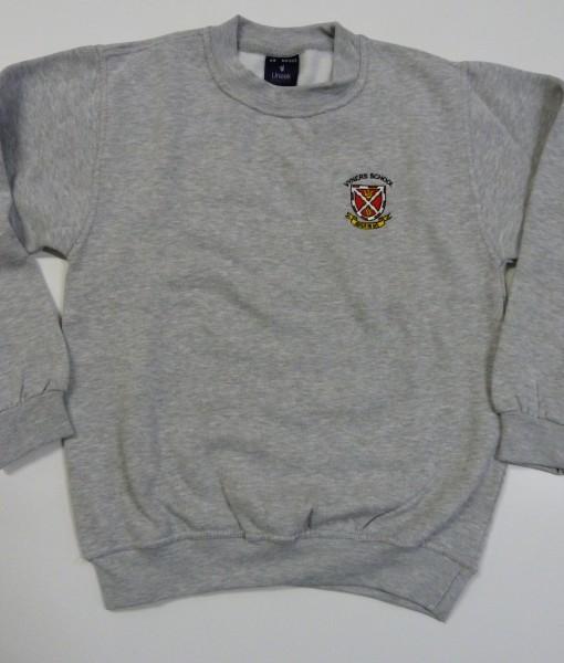 Grey Sweatshirt with badge vyners