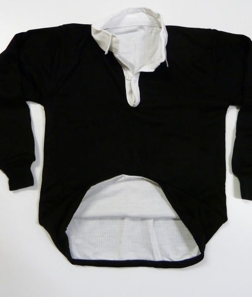 Reversible Black white Rugby Jersey